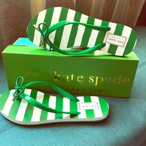 Kate Spade Flip Flops Green